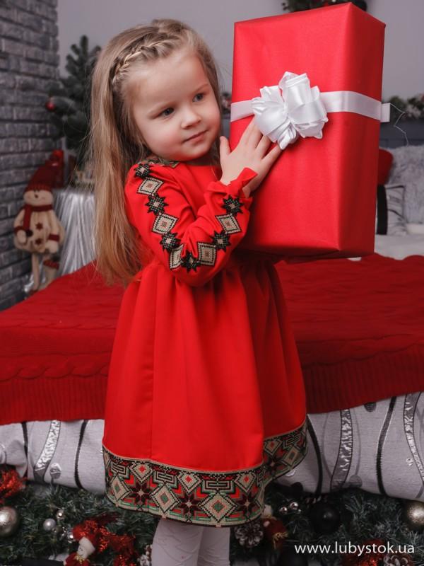 Вишита сукня для дівчинки D-111-01-d
