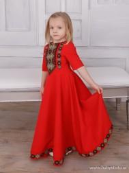 Вишите плаття для дівчинки D-112-01-d