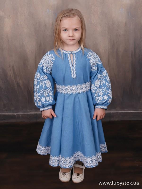 Вишита сукня для дівчинки D-121-01-d