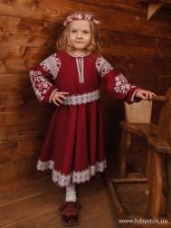 Вишите плаття для дівчинки D-121-02-d