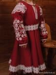 Вишита сукня для дівчинки D-121-02-d