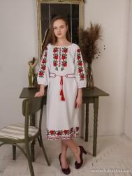 Вишите плаття D-126-01
