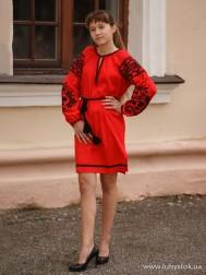 Вишите плаття D-127-02