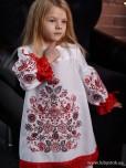 Вишита сукня для дівчинки D-128-01-d