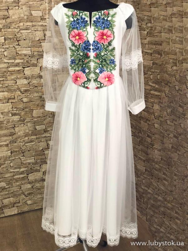 Вишита сукня для дівчинки D-130-01-d