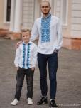 Сімейні вишиванки тато і син F-001