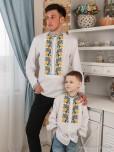 Сімейні вишиванки тато і син F-002