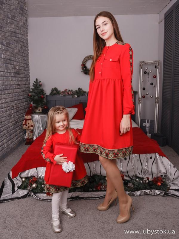 Сімейні вишиванки мама і дочка F-006