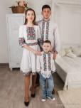 Сімейні вишиванки тато, мама і син F-009