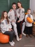 Сімейні вишиванки тато, мама, син і дочка F-010