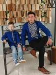 Сімейні вишиванки тато і син F-016