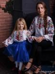 Сімейні вишиванки мама і дочка F-020
