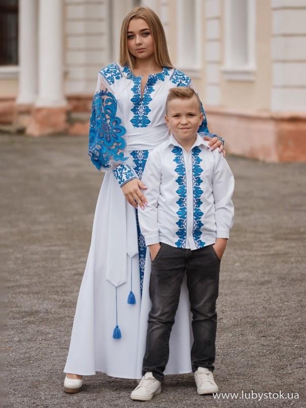 Сімейні вишиванки мама і син F-021