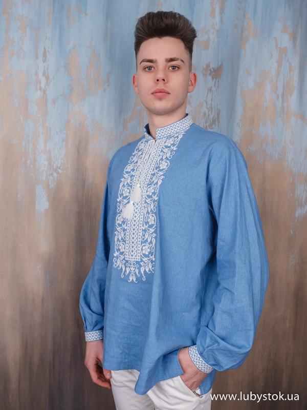 Чоловіча вишита сорочка S-054-02