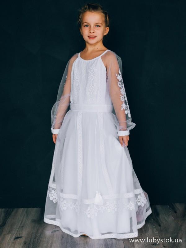 Вишита сукня для дівчинки D-141-01-d