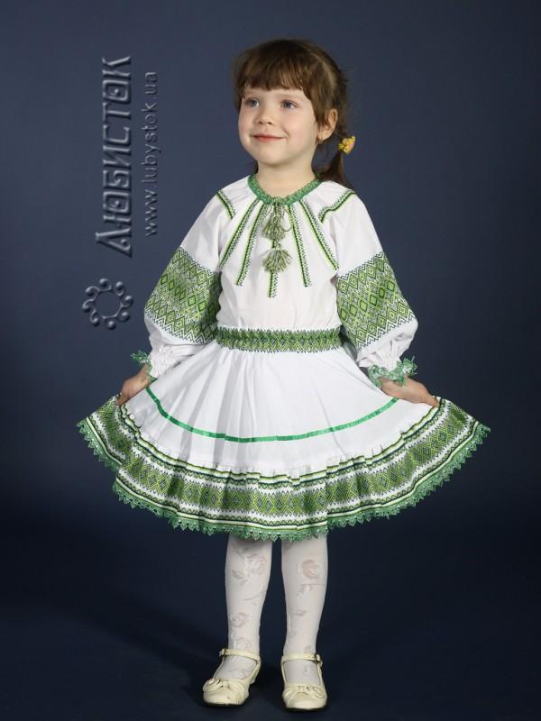 Вишитий костюм для дівчинки ЖК 83-15