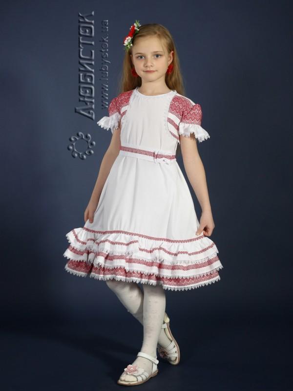 Вишита сукня для дівчинки ЖП 14-11