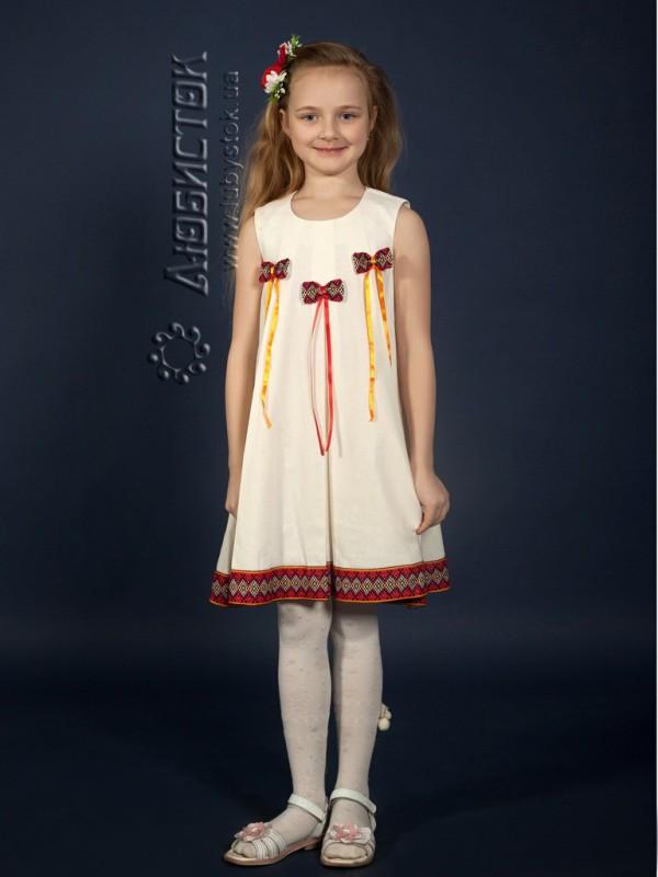 Вишита сукня для дівчинки ЖП 41-44