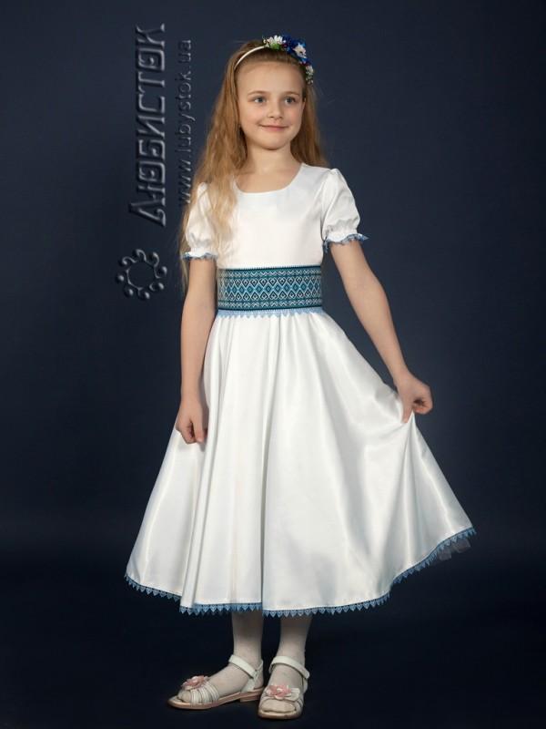 Вишита сукня для дівчинки атласна ЖП 47-68