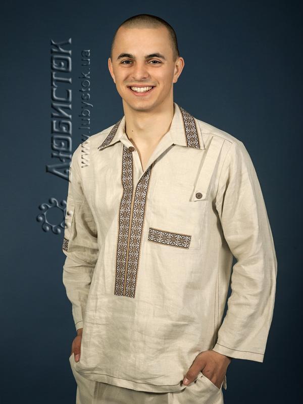 Вишита сорочка на льоні ЧС 3-62L
