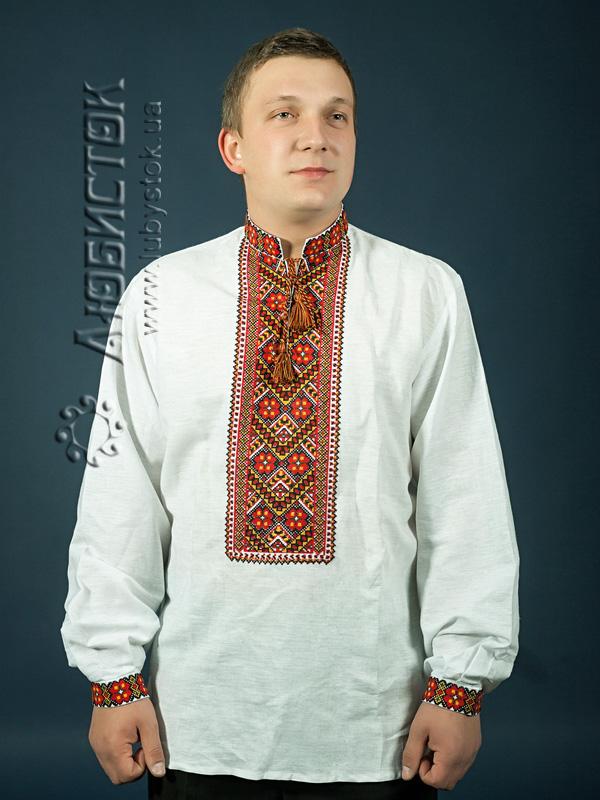 Вишита сорочка хрестиком ЧСВ 7-1
